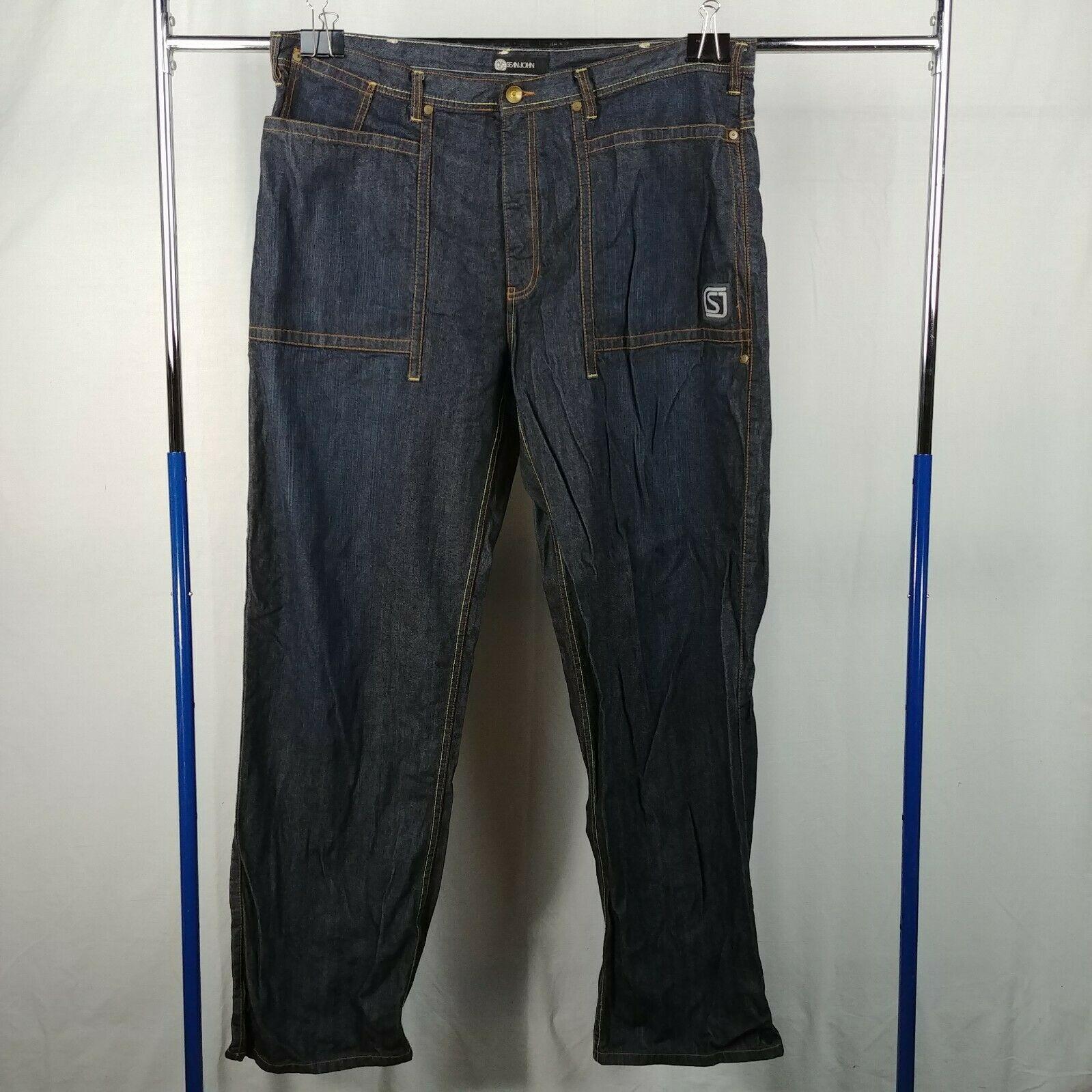 e0229506 Sean John Blue Jeans Mens Size 42 100% Cotton Pants