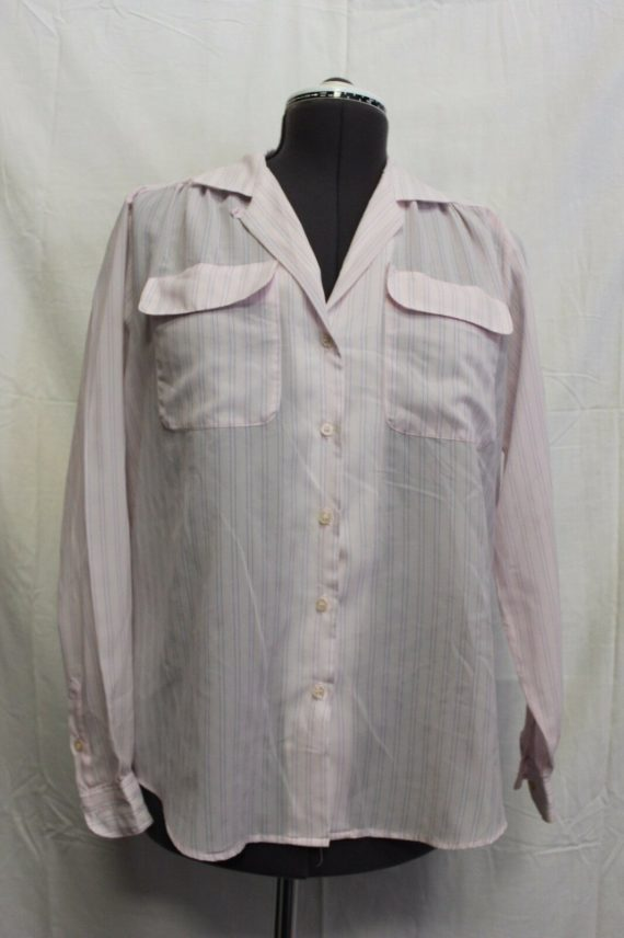 shoply-light-pink-w-blue-pinstripe-long-sleeve-button-up-womens-blouse-size-16