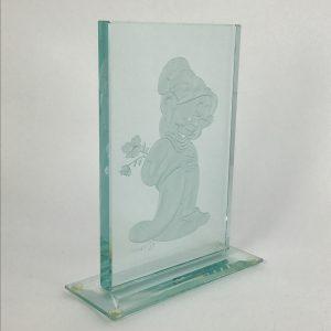 shy-dopey-walt-disney-laser-etched-glass-art-sculpture