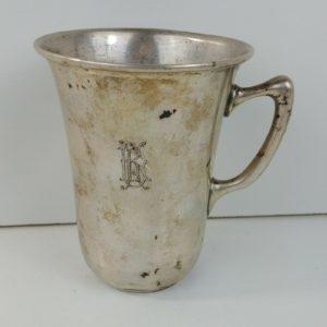 silver-110g-monogrammed-cup-mug-3-5-8-tall-x-3-diameter-rim