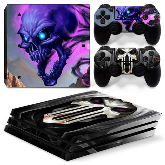 sony-ps4-pro-cool-skull-console-2-controllers-decal-vinyl-skin-art-wrap