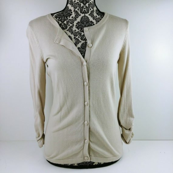 style-co-womens-beige-cardigan-button-up-sweater-size-xs-long-sleeve