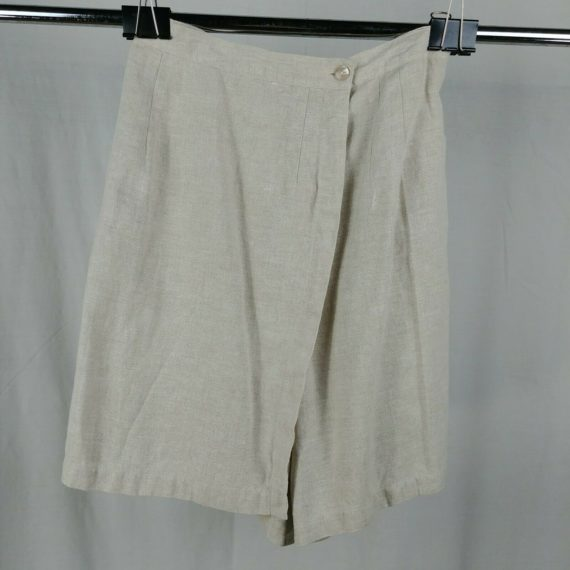 talbots-linen-short-cream-skirt-skort-shorts-womens-size-8-100-irish-linen