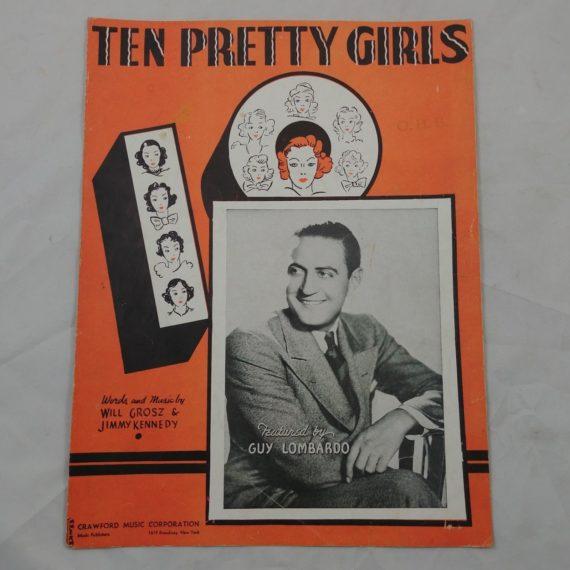 ten-pretty-girls-feat-guy-lombardo-vintage-sheet-music-1937-jimmy-kennedy