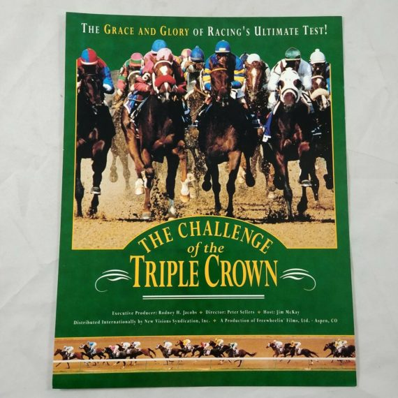 the-challenge-of-the-triple-crown-horse-racing-jim-mckay-vtg-promo-ad-pinup