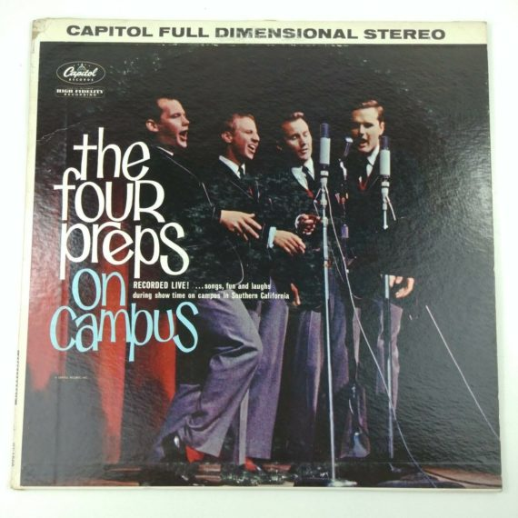 the-four-preps-on-campus-recorded-live-capitol-record-lp-vinyl-12t