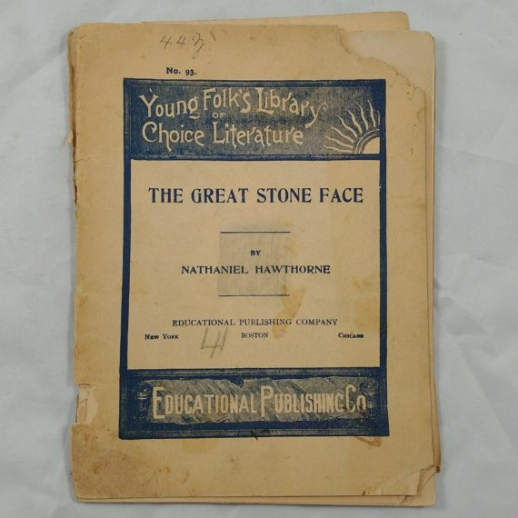 the-great-stone-face-nathaniel-hawthorne-vintage-book-booklet-old