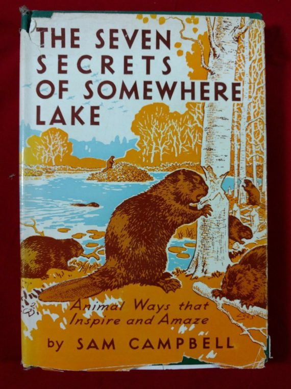 the-seven-secrets-of-somewhere-lake-sam-campbell-first-edition-1952-dj