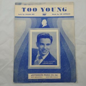 too-young-richard-hayes-jefferson-music-co-vintage-sheet-music-1951