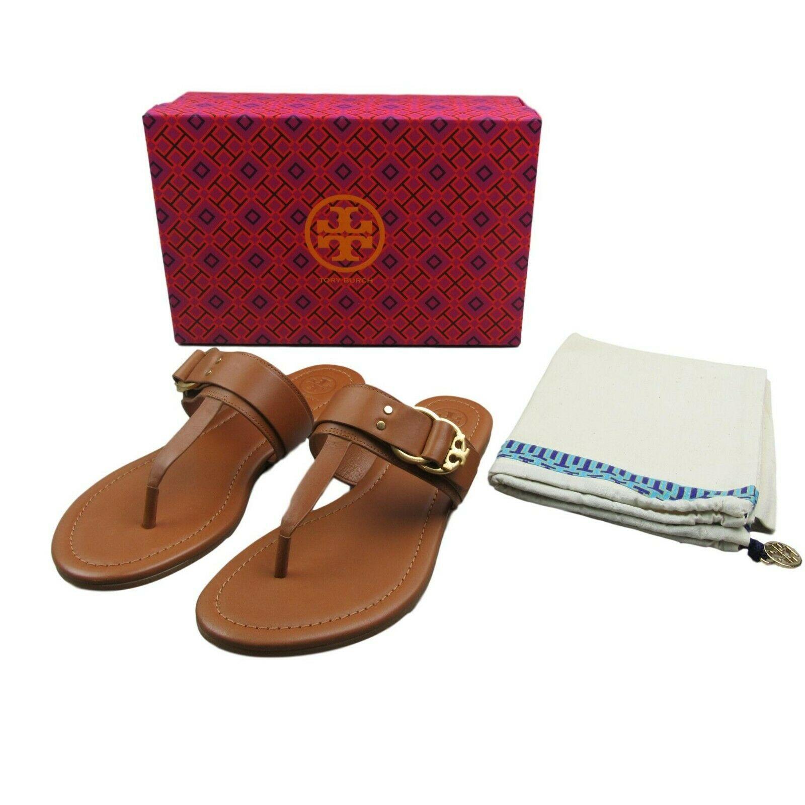 4d32db48ed1f Tory Burch Marsden Flat Thong Sandal Size 8 Tan Leather  49357 New  228