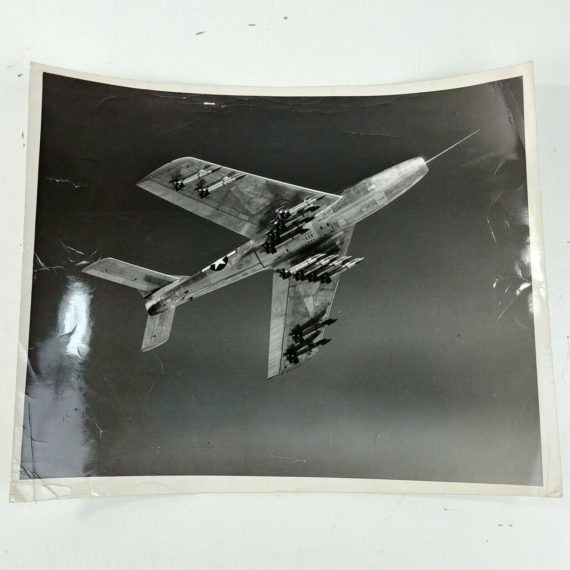 us-mig-fighter-sabre-bombs-combat-jet-vintage-bw-real-photo-aircraft-lot-30