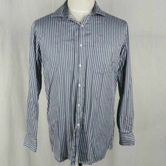 van-heusen-blue-striped-casual-dress-shirt-modern-fit-mens-size-16h