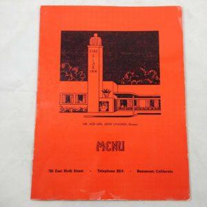 vintage-1950s-fireside-inn-menu-beaumont-california-john-livacich