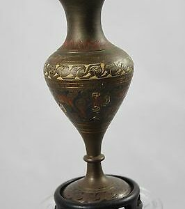 vintage-brass-enameled-vase-india-wood-base-4-1-8-tall-3