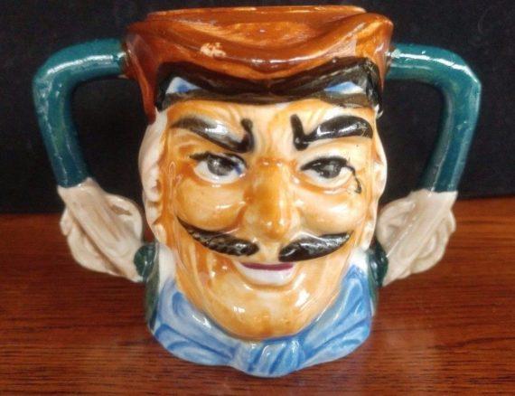 vintage-ceramic-porcelain-toby-mug-pitcher-creamer-double-handle-pirate-hook