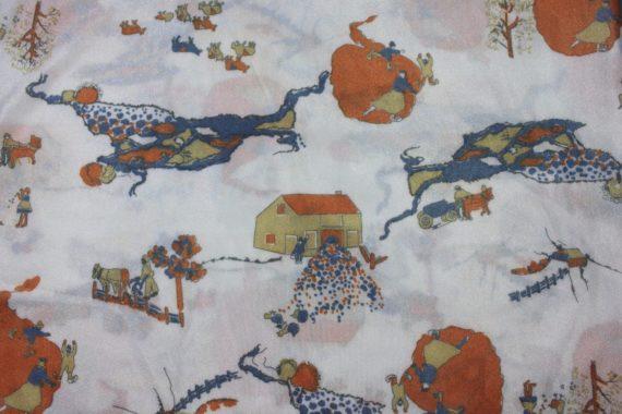 vintage-fabric-white-w-orange-blue-scenes-37-x-63-1-75-yds
