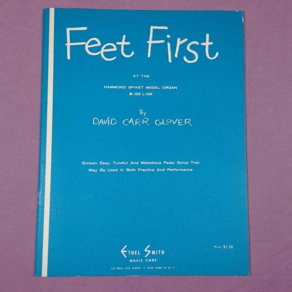 vintage-hammond-spinet-model-organ-book-feet-first-pedal-solos-sheet-music