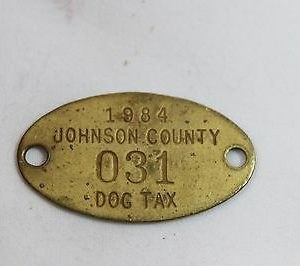 vintage-johnson-county-dog-tax-tag-1984