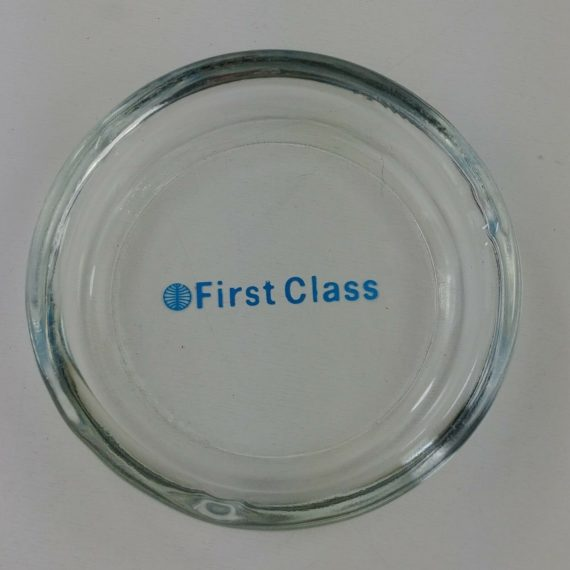 vintage-pan-am-first-class-clear-glass-ashtray-blue-logo-excellent-lot-2