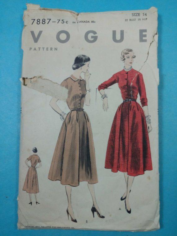 vintage-sewing-patterns-vogue-womens-dress-size-14