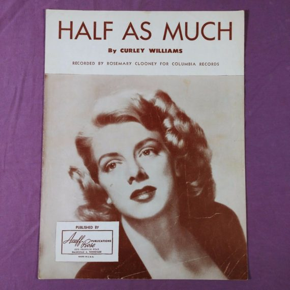 vintage-sheet-music-half-as-much-by-curley-williams-rosemary-clooney-columbia