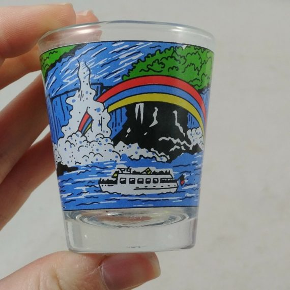 vintage-shot-glass-rainbow-water-ferry-falls-n-p-c-drink-barware-bar-shots