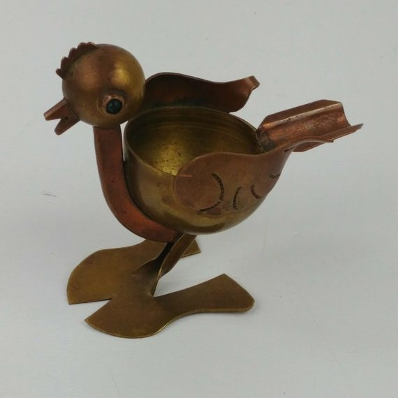 vintage-taxco-mexico-brass-copper-chicken-ashtray-green-gem-eyes-12
