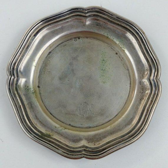 wiener-silber-manufactur-silver-162g-monogrammed-chippendale-tray-5-diameter