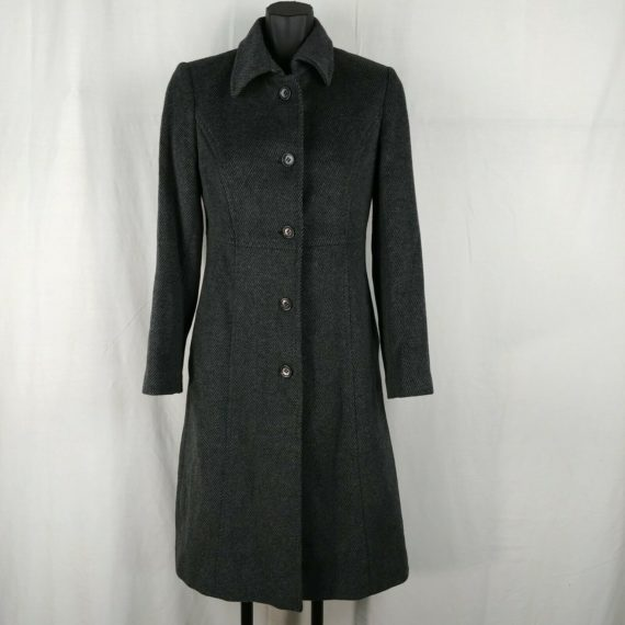 winter-time-gray-knee-length-angora-wool-coat-jacket-buttons-collared-womens-m