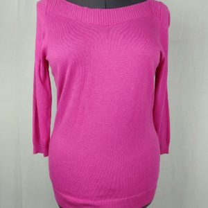 worthington-pink-boat-neck-3-4-sleeve-sweater-womens-size-large