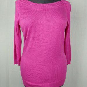 worthington-pink-boat-neck-3-4-sleeve-sweater-womens-size-large