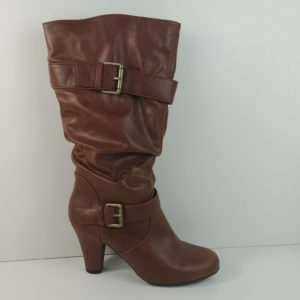 xhilaration-kainda-cognac-brown-buckle-boots-pull-on-womens-size-us-9