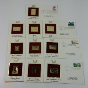 10-first-day-of-issue-22k-replica-stamps-gold-united-states-stamps-80s-lot-5