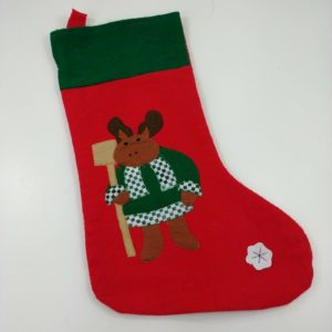 17-vtg-christmas-stocking-reindeer-clothed-checkered-snowflake-cute-lot-7