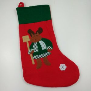 17-vtg-christmas-stocking-reindeer-clothed-checkered-snowflake-cute-lot-8