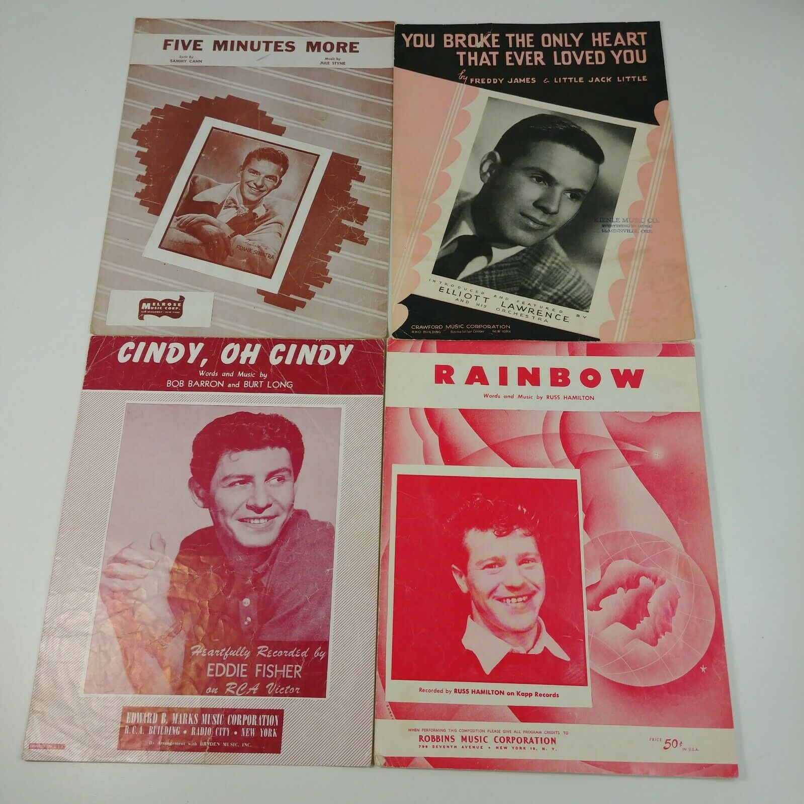 18 Men Singing Love Songs Heartbreak Vintage Sheet Music Lot #6