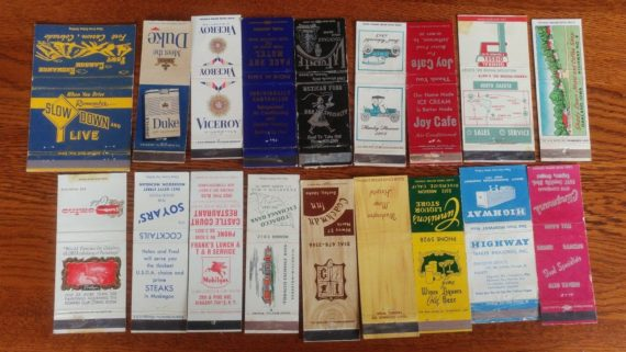 18-vintage-matchbook-covers-lot-tobacco-gas-auto-cafe-hotel