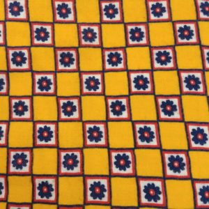 1970s-feel-yellow-checkered-red-blue-floral-flowers-joselph-goldinger-fabric