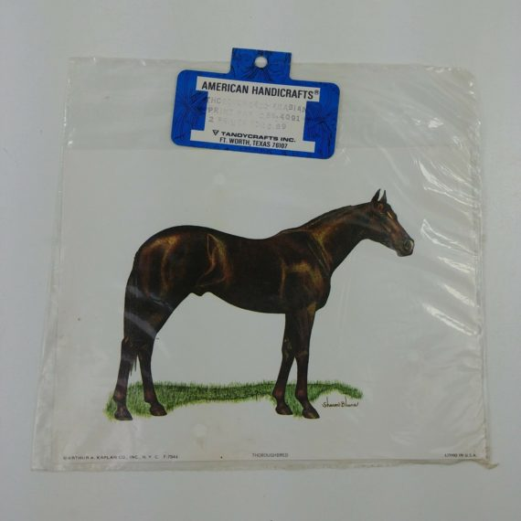 2-american-handicrafts-horse-litho-thoroughbred-arabian-arthur-kaplan-co-nos