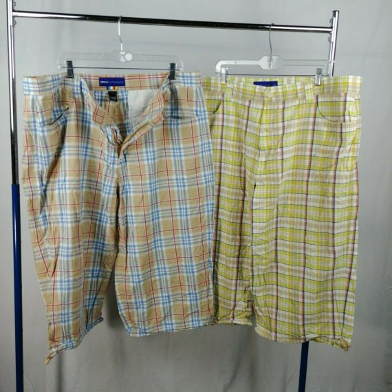 2-enyce-plaid-golf-shorts-bermuda-mens-size-42-100-cotton-1-missing-button