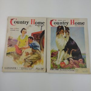 2-vintage-1936-country-home-magazines-great-ads-border-collie-farm-picnic