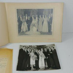 2-vintage-bw-wedding-photos-bride-groom-new-york-high-society-immigrants-lot-27