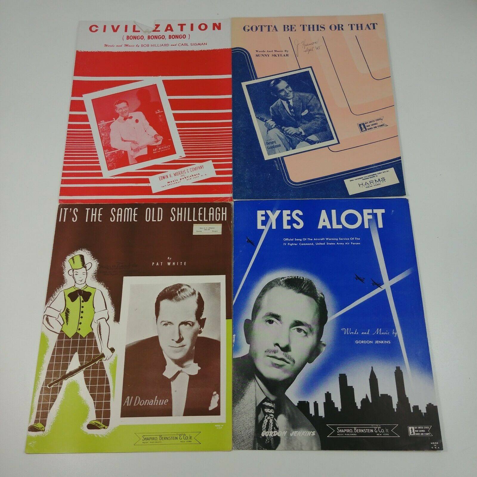 21 Songs Sung by Men Misc Cool Colorful Graphics Vintage Sheet Music Lot #9