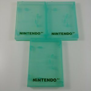3-lot-nintendo-64-clear-green-game-cartridge-cases-n64-lot-1