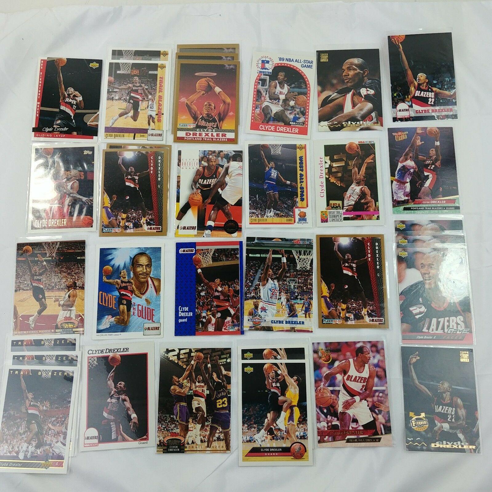 Portland Trail Blazers Nba: 32 Clyde Drexler Trading Cards Basketball Portland Trail