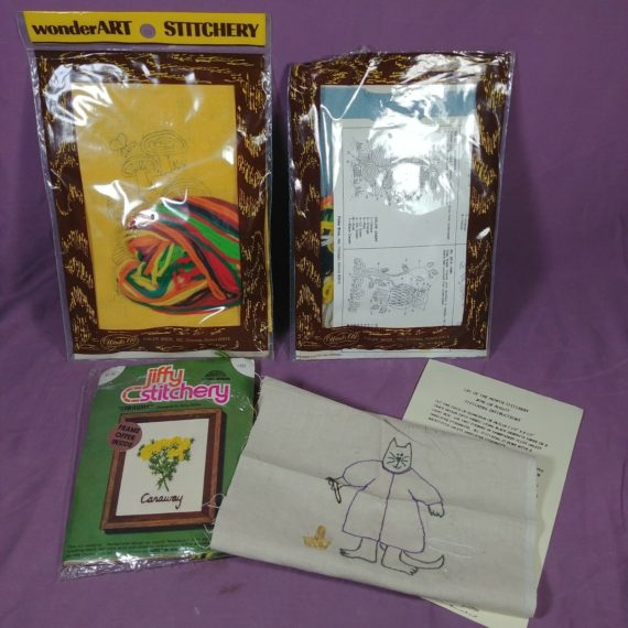 4-item-stitchery-lot-sealed-and-opened-kits-wonderart-jiffy
