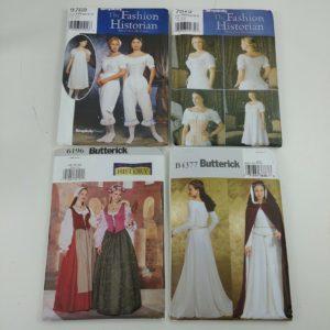 4-womens-butterick-simplicity-sewing-patterns-sz-6-16-costume-cosplay-dress