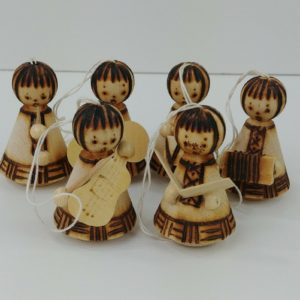 6-vintage-boxed-burned-wood-wooden-mini-angels-christmas-ornaments-music