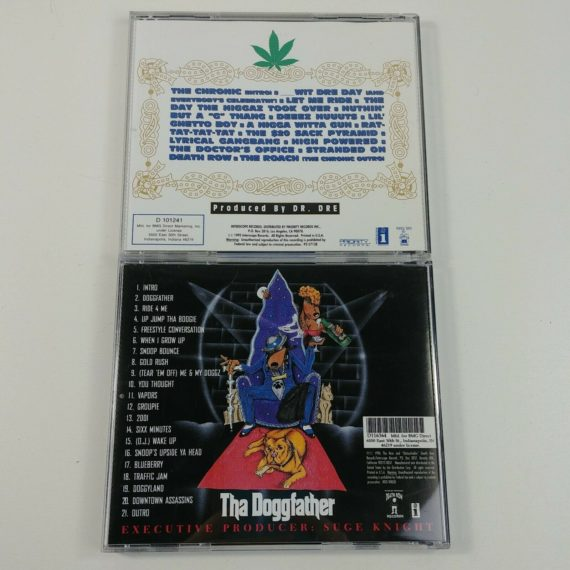 90s-lot-of-2-cds-tha-doggfather-snoop-dogg-the-chronic-dr-dre