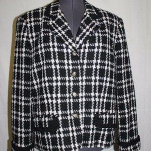 amanda-smith-wool-blend-peacoat-blazer-black-white-checks-womens-size-16w